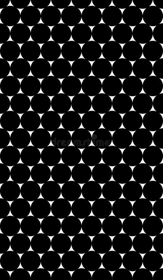 Download 与圈子的黑白样式的无缝的纹理 向量例证. 插画 包括有 小点, 高雅, 投反对票, 方式, 艺术, 格子 - 62538245