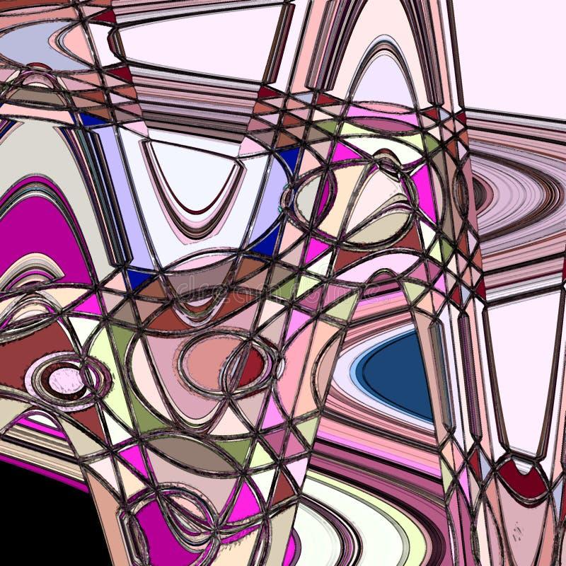 与圈子锦砖的五颜六色的抽象墙纸 库存例证