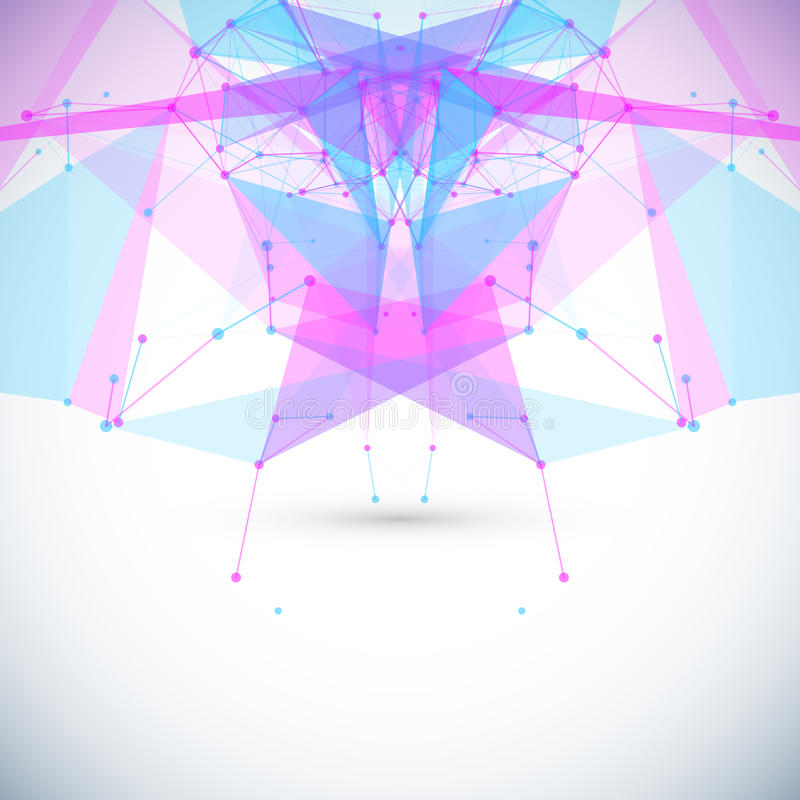 与圈子,线的抽象几何背景 皇族释放例证