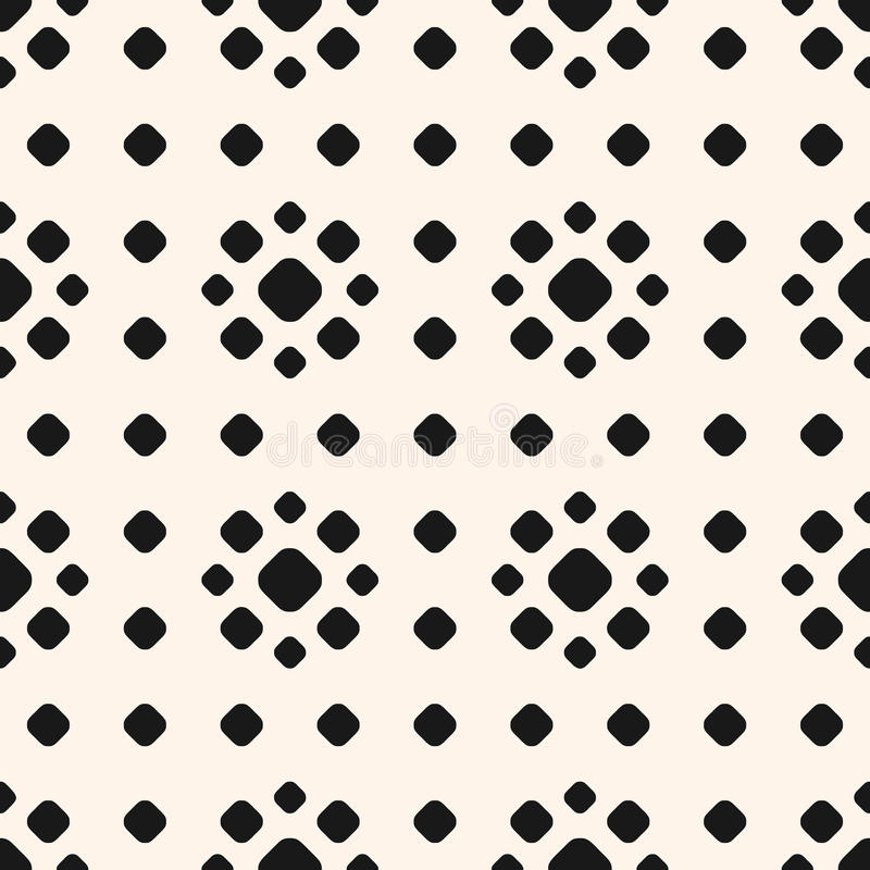 与圈子,花卉形状的圆点样式 向量例证