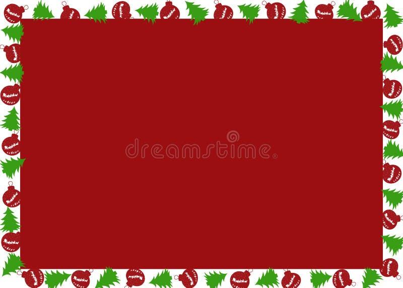 与圣诞树和圣诞节地球的圣诞节框架 库存例证