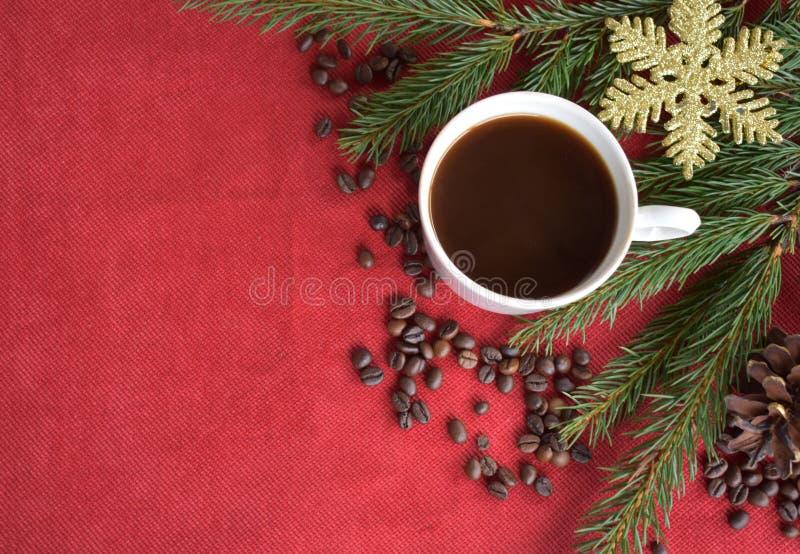 与圣诞歌曲的红色背景织品 免版税库存图片