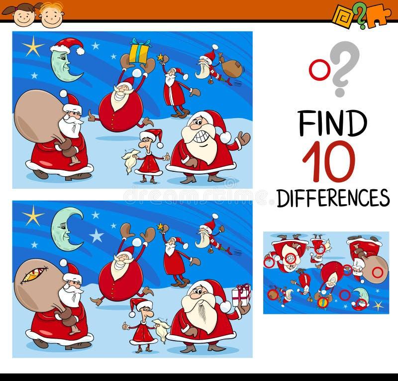 与圣诞老人的区别任务 向量例证