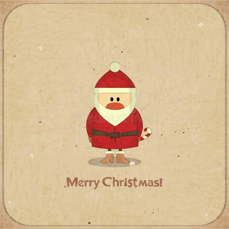 与圣诞老人的圣诞快乐减速火箭的看板卡 皇族释放例证