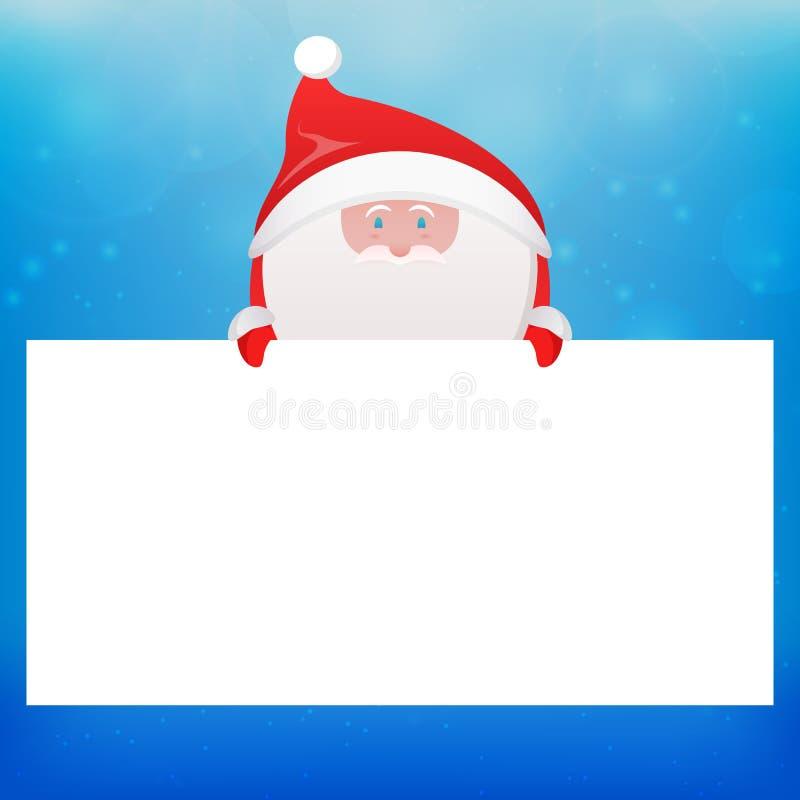 与圣诞老人的文本的例证和地方 皇族释放例证