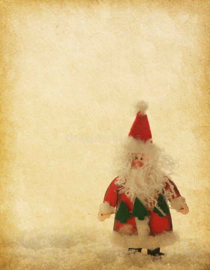 与圣诞老人的老纸 库存照片