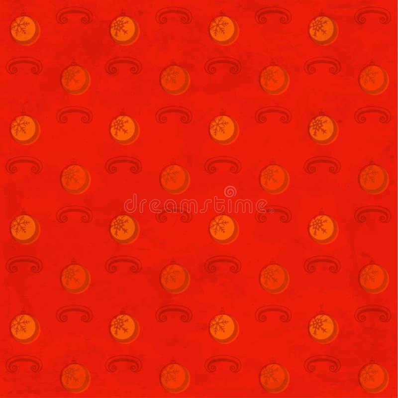 与圣诞节中看不中用的物品的红色脏的样式 皇族释放例证