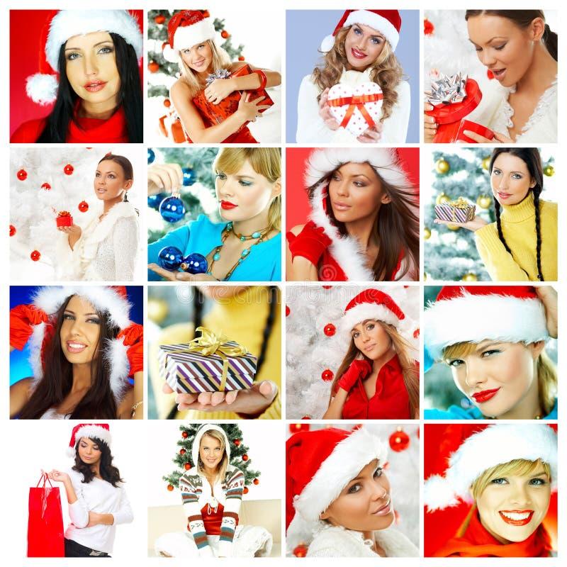 与圣诞节题材的五颜六色的构成 库存图片