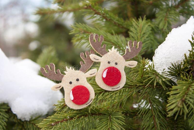 与圣诞节&新年快乐结婚! 免版税库存图片