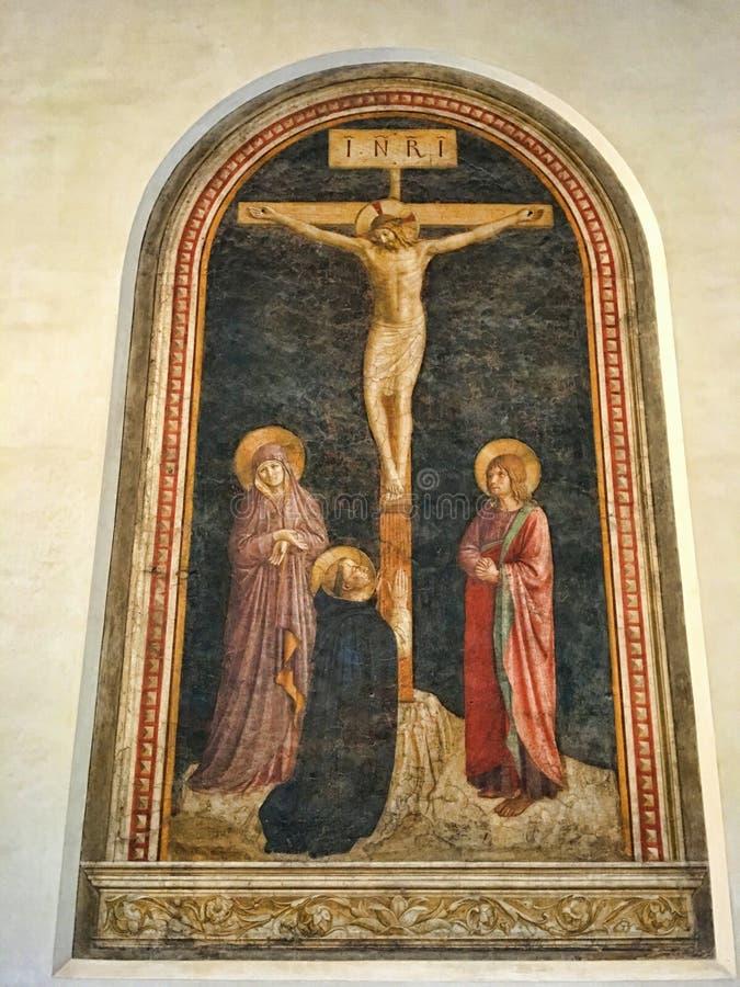与圣Dominic的在十字架上钉死 库存照片