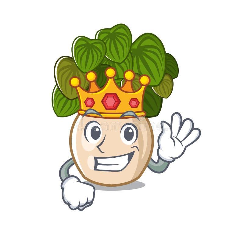 与在动画片形状的国王豆瓣绿草 皇族释放例证
