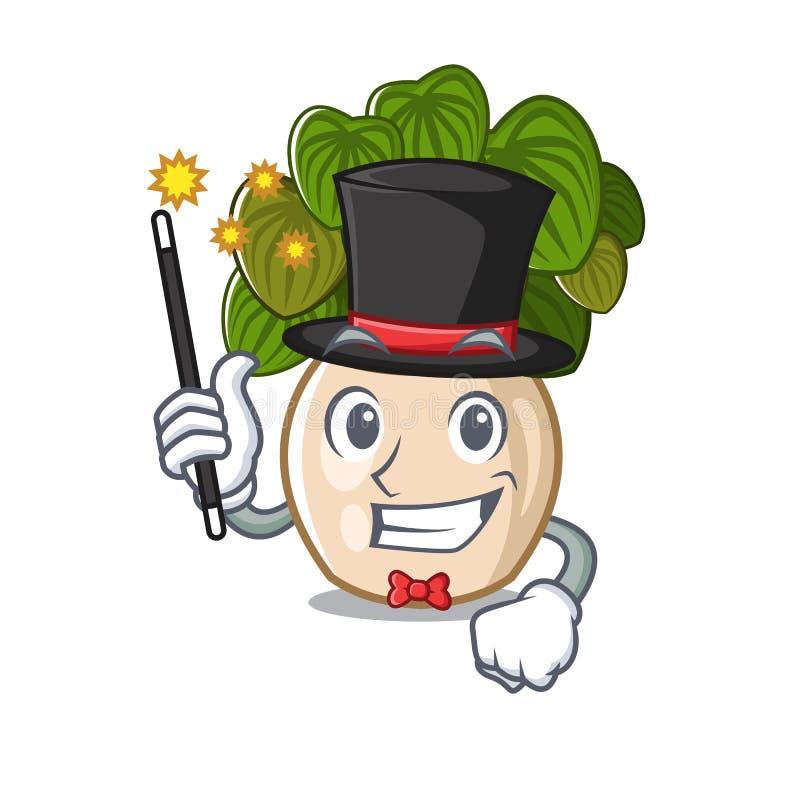 与在动画片形状的魔术师豆瓣绿草 库存例证