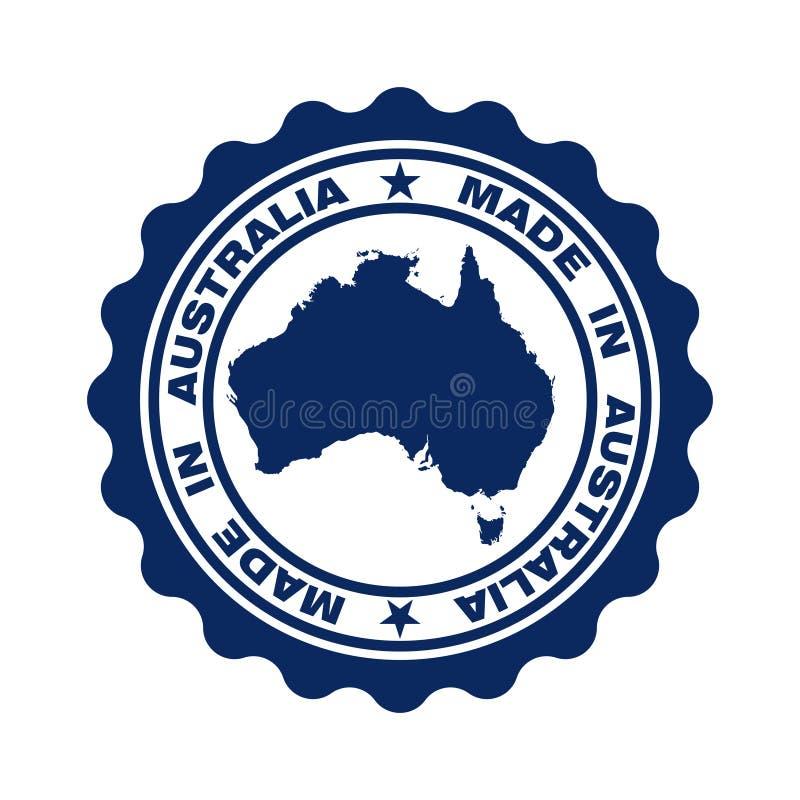 与在澳大利亚'制造的'文本的邮票 库存例证