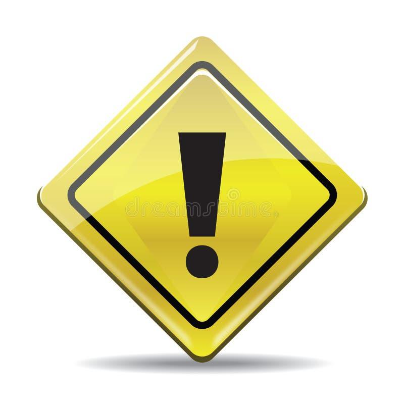 与在白色背景象隔绝的黑标志的黄色警告simbol 皇族释放例证
