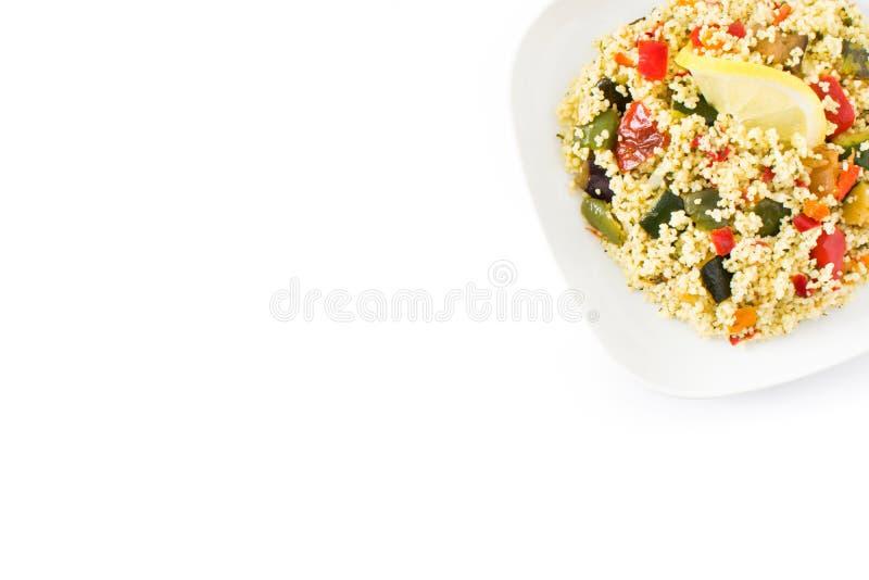 与在白色背景隔绝的菜的蒸丸子 顶视图 库存照片