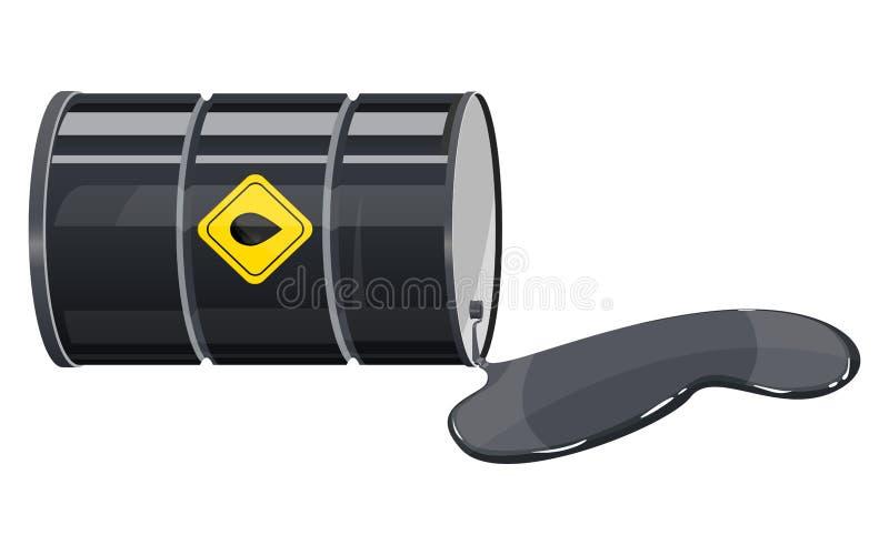 与在白色背景隔绝的黄色标签传染媒介设计例证的油battel 库存例证