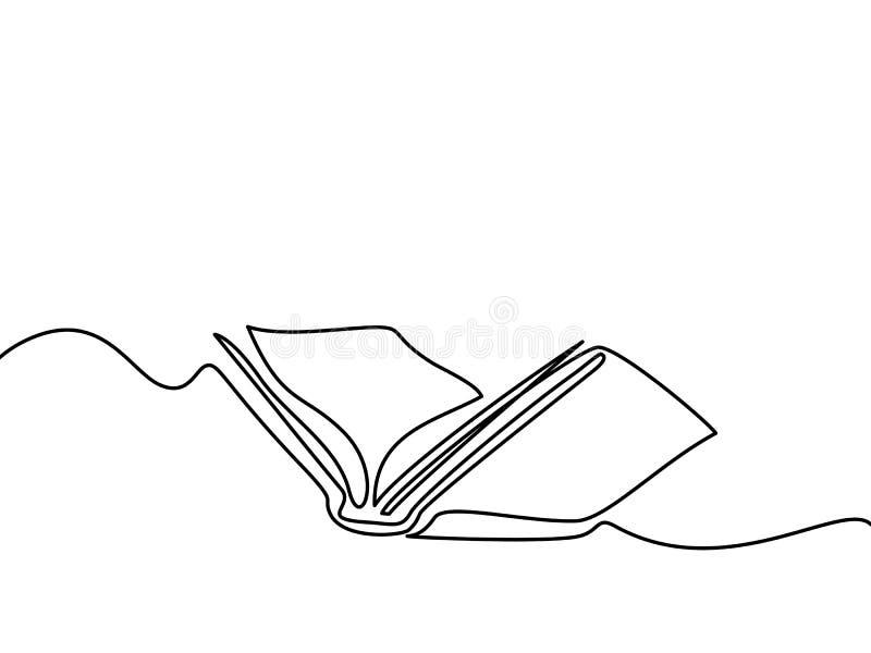 与在白色隔绝的页的被打开的书 向量例证