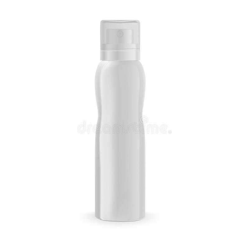与在边的一个弯盆射瓶嘲笑防臭剂, 向量例证