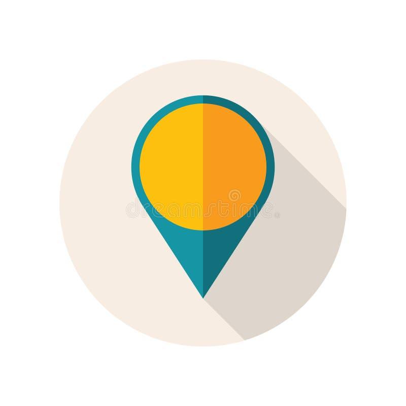 与地图Pin的平的设计象 r 库存例证