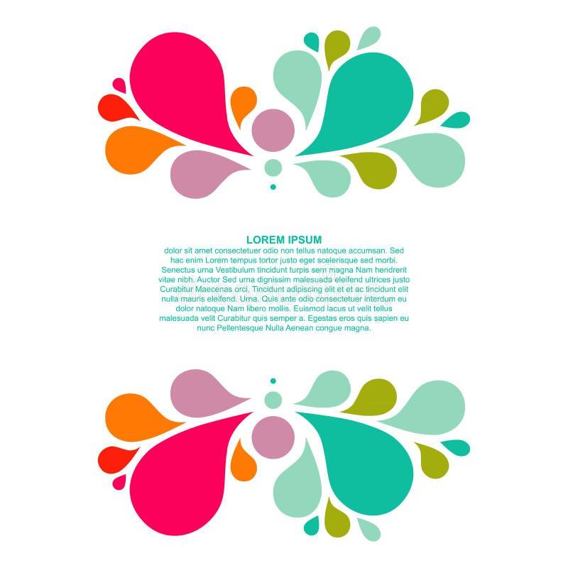 与地方您的文本的,下落元素的抽象五颜六色的背景 皇族释放例证