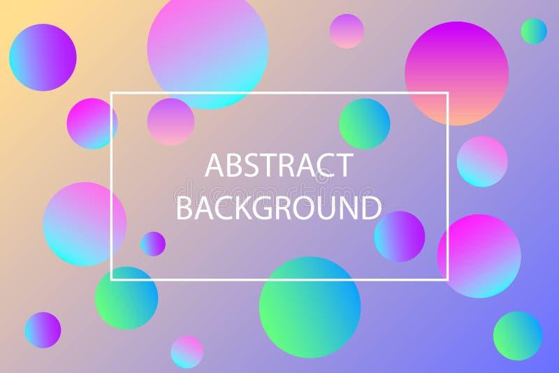 与地方的五颜六色的球背景您的内容的 横幅的,海报,飞行物,卡片,明信片,盖子样式设计 向量例证