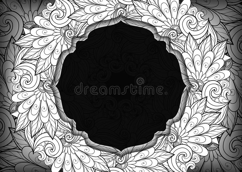 与地方的传染媒介Mohochrome花卉模板文本的 皇族释放例证