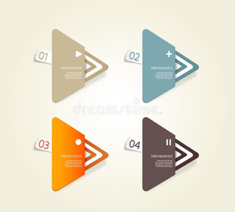 四个色纸三角 皇族释放例证