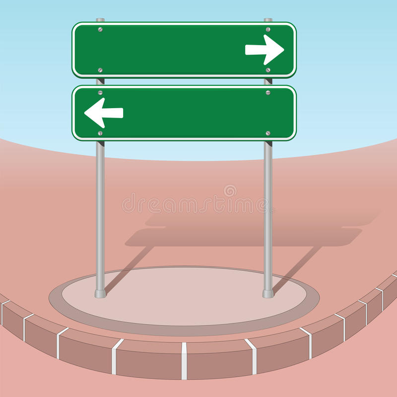 左边或右边 向量例证