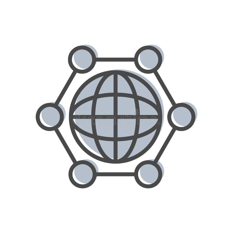 与地球标志的进程管理象 库存例证
