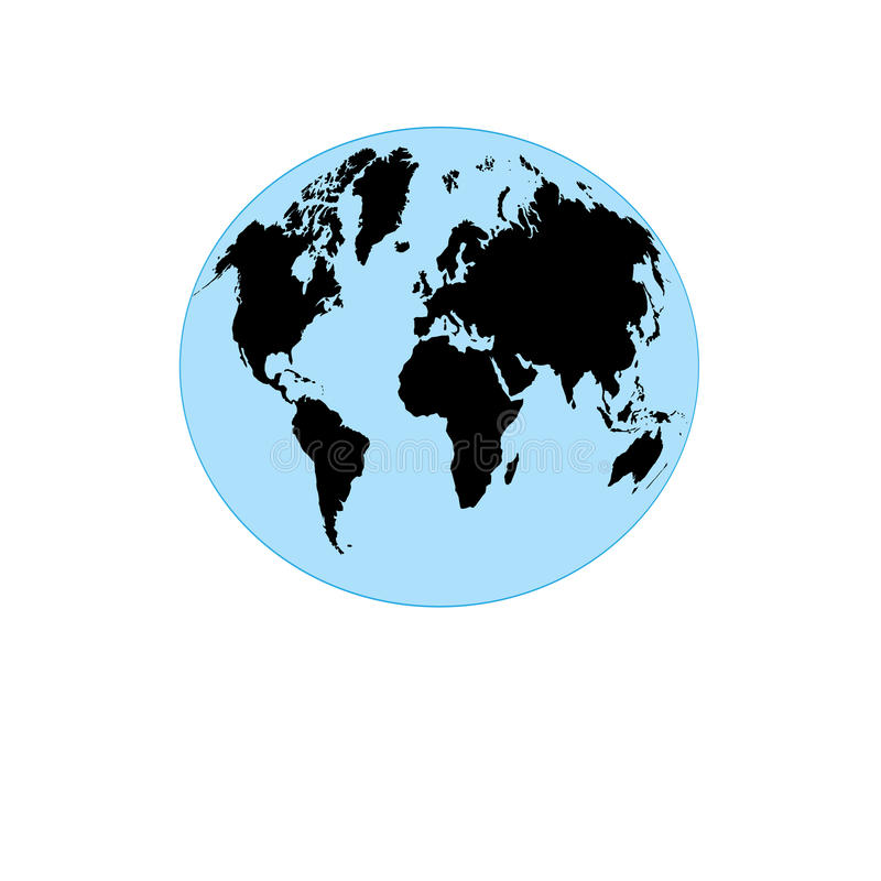 与地球的地图的图表地球 向量例证