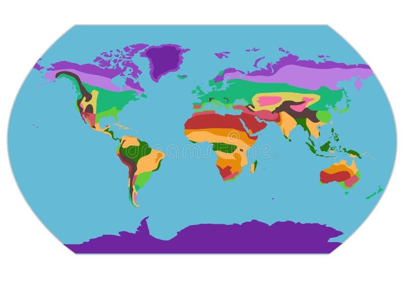 与地理气候带的例证映射 皇族释放例证