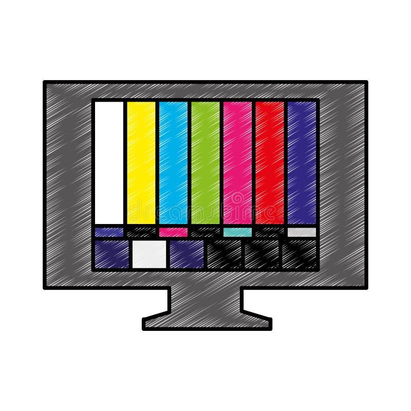 与坏信号象的电视 皇族释放例证