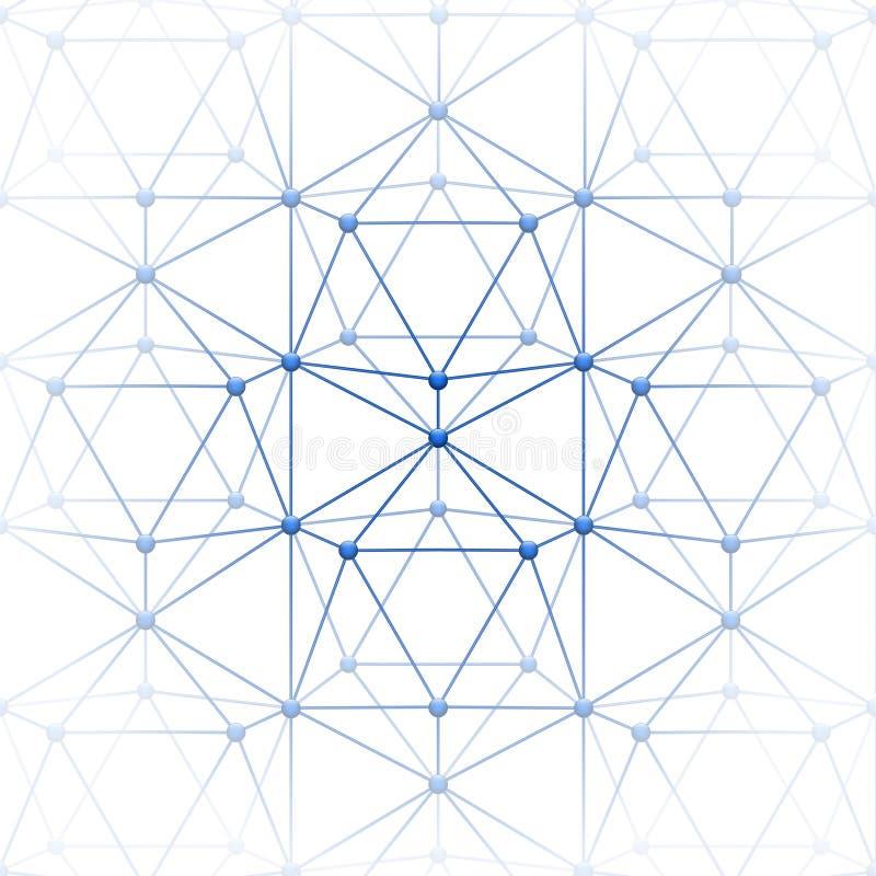 与块的二十面体连接 向量例证