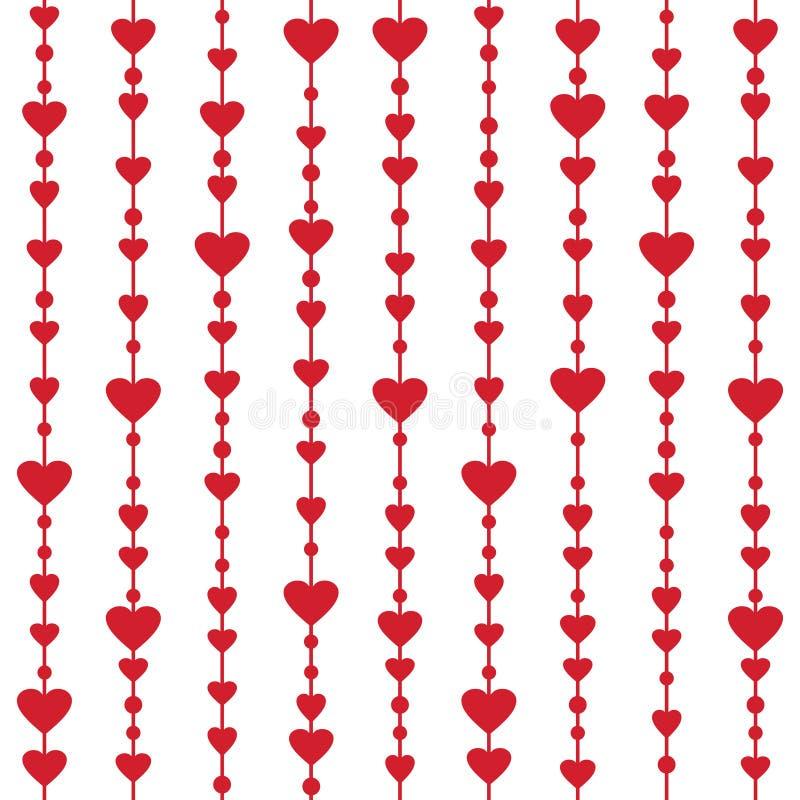 与垂悬的心脏诗歌选的无缝的样式 库存例证