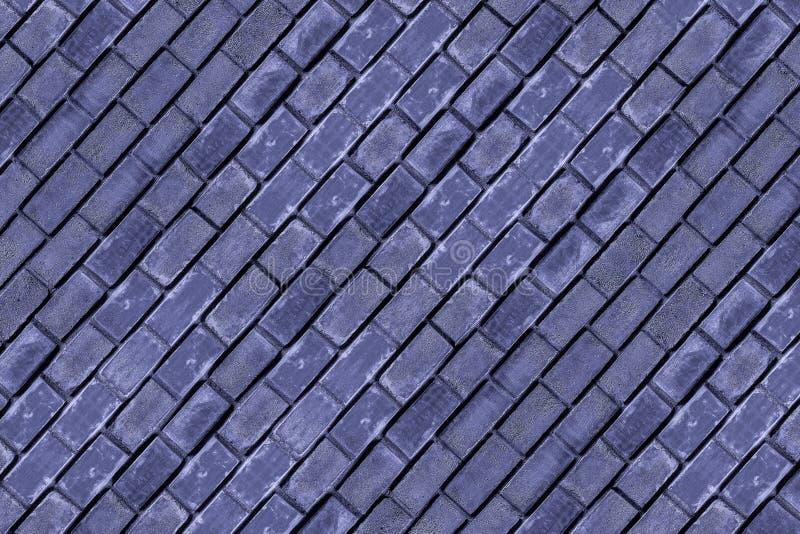 与垂直的水平线的背景黑暗的淡紫色都市样式对角石工长方形砖巩固背景基本的难看的东西 库存图片