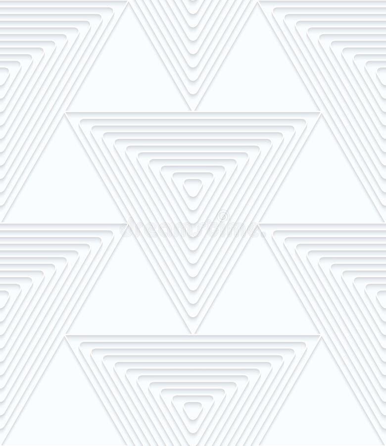 与垂距的Quilling白皮书大三角 向量例证