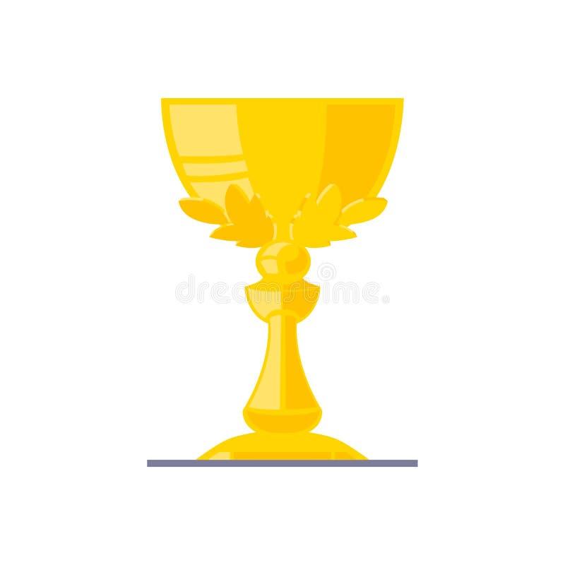 与垫座的发光的奖杯奖奖 免版税图库摄影