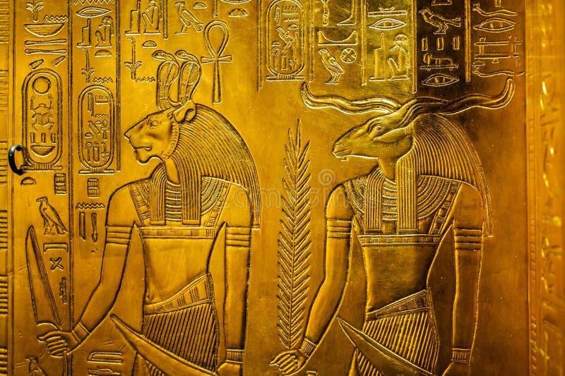 与埃及神的安心 库存图片