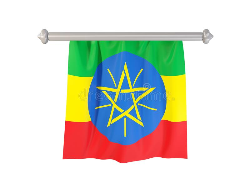 与埃塞俄比亚的旗子的信号旗 皇族释放例证