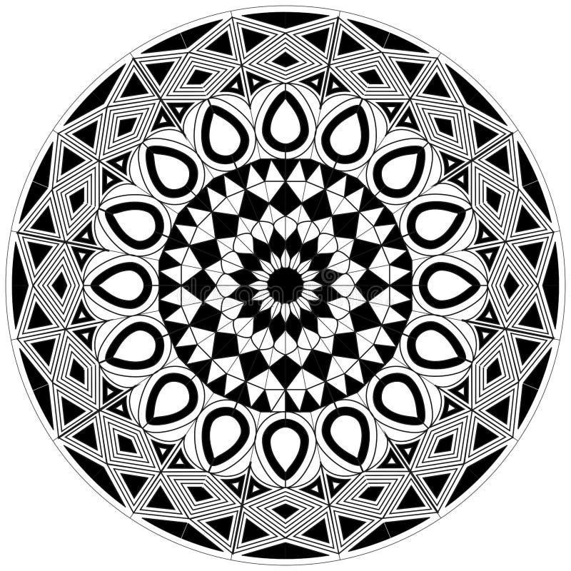 与基本的形状的复杂空白和白色坛场设计图片