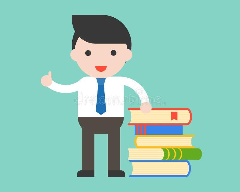 与堆书, edu的商人、图书管理员或者老师立场 皇族释放例证