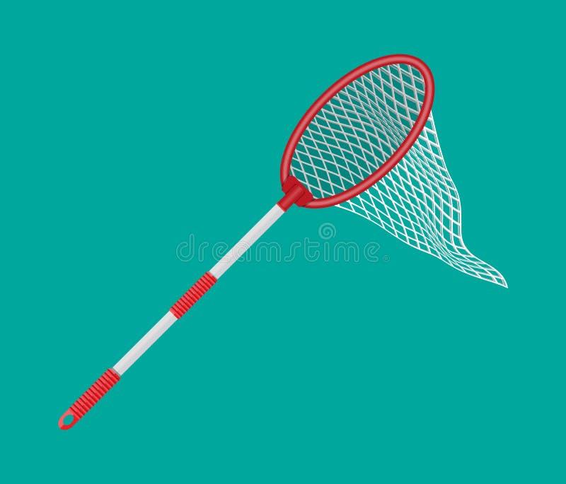 与塑料把柄的蝴蝶网 向量例证