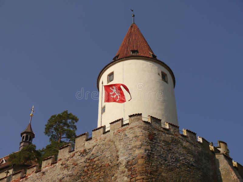 与塔的浪漫城堡 免版税图库摄影