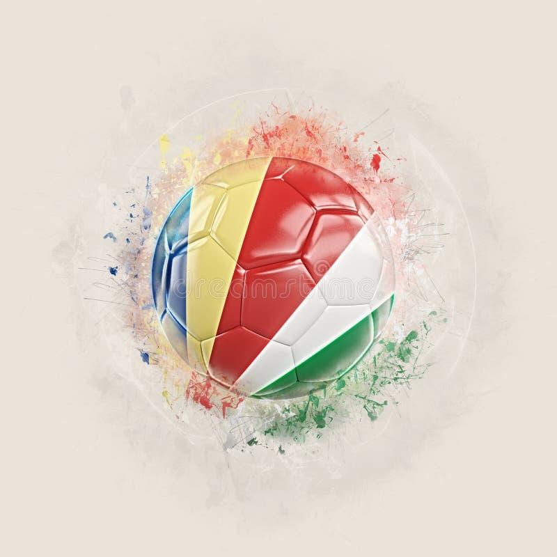 与塞舌尔群岛的旗子的难看的东西橄榄球 皇族释放例证