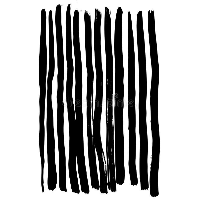 与墨水刷子冲程的传染媒介手画无缝的样式 皇族释放例证