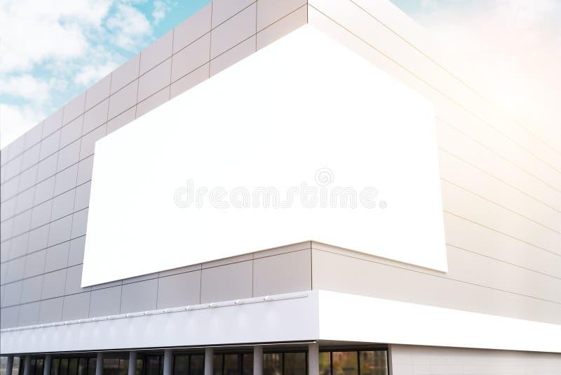 与壁角海报的商业中心,被定调子 向量例证
