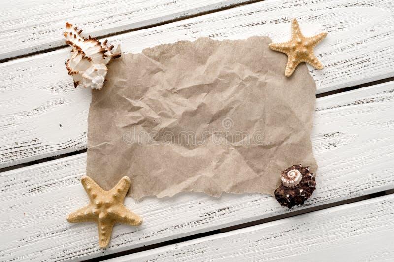 与壳的纸 免版税库存图片