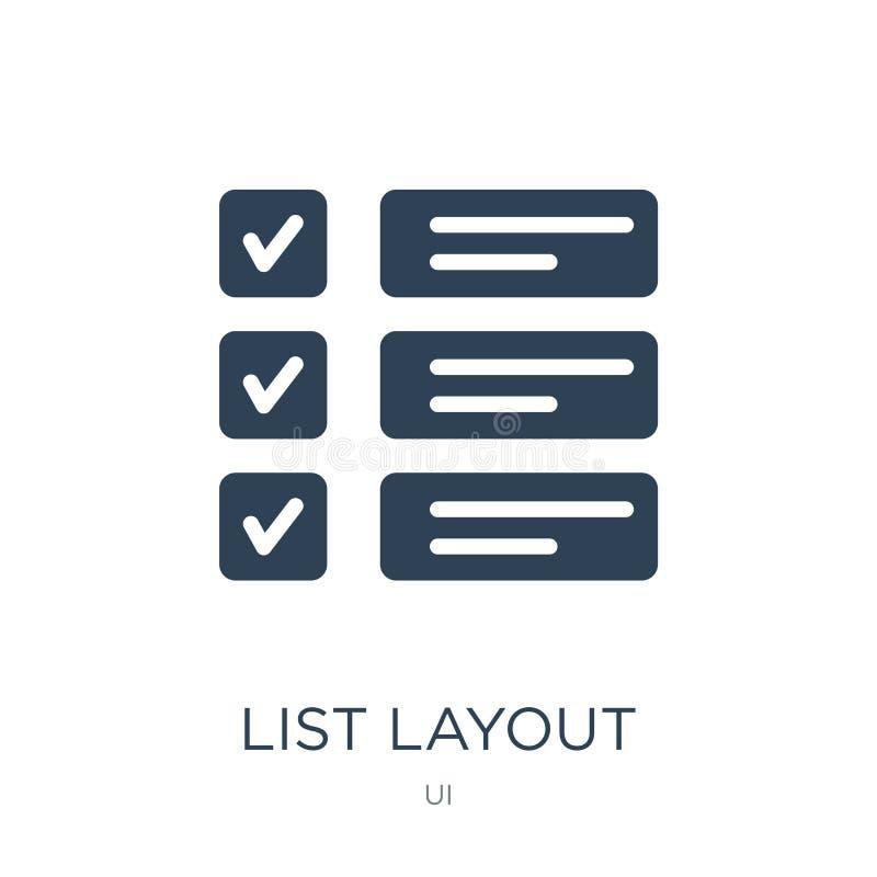 与复选框象的名单布局在时髦设计样式 与在白色背景隔绝的复选框象的名单布局 列表 皇族释放例证