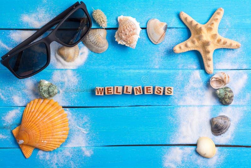 与夏天设置概念的健康词 图库摄影