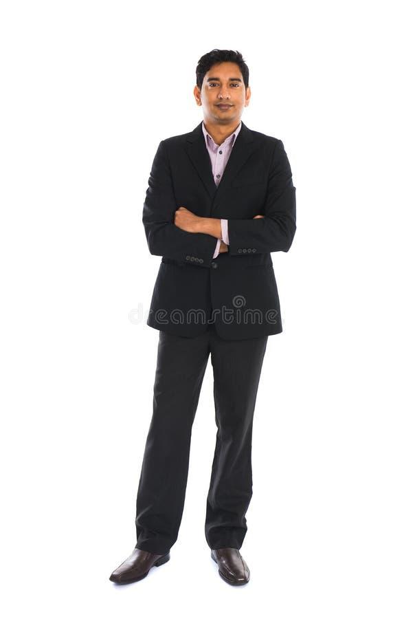 与外套的印度男性 免版税库存图片